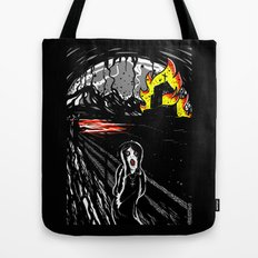 black scream Tote Bag