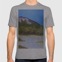 Mountain Lake I Mens Fitted Tee Athletic Grey SMALL