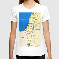Israel Map design Womens Fitted Tee White SMALL