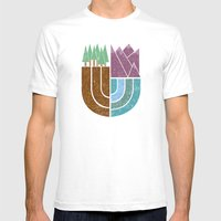 Mountain Crest Mens Fitted Tee White SMALL
