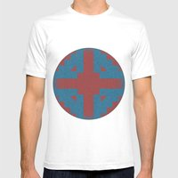 Blue & Red Noises Mens Fitted Tee White SMALL