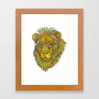 Dandy Lion Framed Art Print
