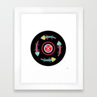 Circles Of Gators Framed Art Print