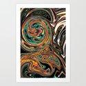 Crazy Marble Art Print