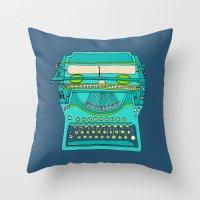 Typewriter Number Five Throw Pillow