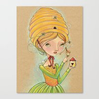 The Only Bee in My Bonnet Canvas Print