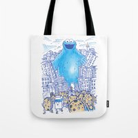 Monster in the city Tote Bag