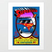 Supervan Art Print