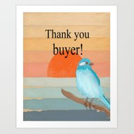 Thank You Buyer! Art Print