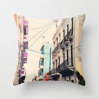 Colorful Buildings of Old San Juan, Puerto Rico Throw Pillow