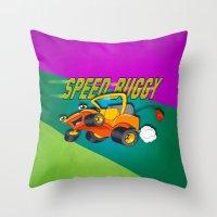 Speed Buggy Throw Pillow
