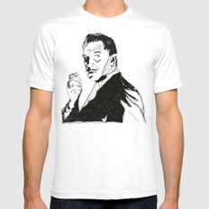 Vincent Price White Mens Fitted Tee SMALL