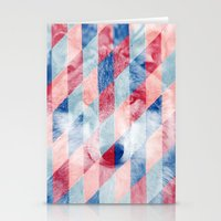 Red Blue Abstract Geomet… Stationery Cards