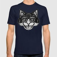 The Creative Cat Mens Fitted Tee Navy SMALL