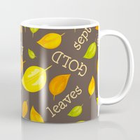 Fall Leaves Pattern Mug