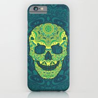 sugar skull iPhone & iPod Cases featuring Sugar skull by Julia Badeeva