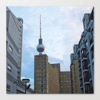 Fernsehturm Berlin - Back Canvas Print