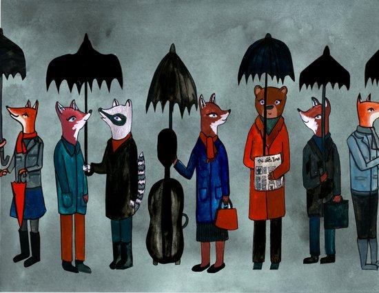 In the Rain Canvas Print