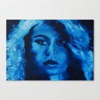 THE BLUE QUICK PORTRAIT Canvas Print