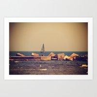 Sail Barcelona Art Print