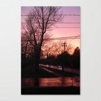 Sunset on Elm St.  Canvas Print