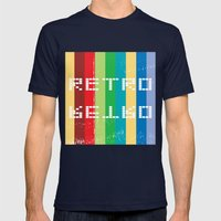 Retro Mens Fitted Tee Navy SMALL