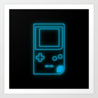 Neon Game Boy Pocket Art Print