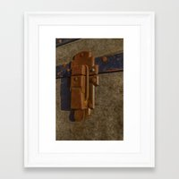Travelling luggage Framed Art Print
