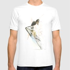 Drift Contemporary Dance SMALL White Mens Fitted Tee