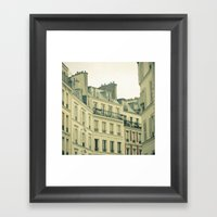 New Year In Paris Framed Art Print