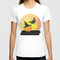 Funny Kissing Pumpkin He… Womens Fitted Tee White SMALL