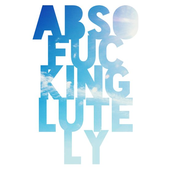 Abso....lutely! Art Print
