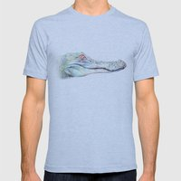 Albino Alligator Mens Fitted Tee Athletic Blue SMALL