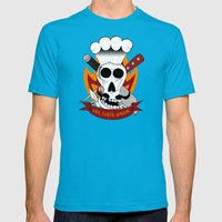 Chef For Life (Code Of Arms) Mens Fitted Tee Teal SMALL
