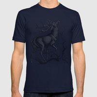 Deer  Mens Fitted Tee Navy SMALL
