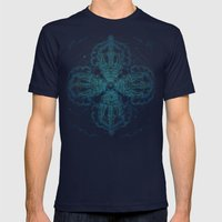 Tibet. Blue Meditation Mens Fitted Tee Navy SMALL