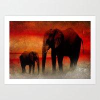 Africa Feeling Art Print