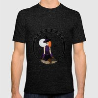 Witch - Vector Mens Fitted Tee Tri-Black SMALL