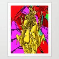 AUTOMATIC WORM 4 Art Print