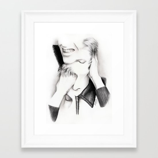 DECONSTRUCTION OF DAVID BOWIE  Framed Art Print