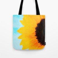 Half A SunFlower  Tote Bag
