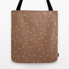 Canvas Dot Line Design Tote Bag