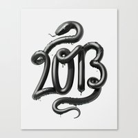 2013 - Year of the Black Water Snake Canvas Print
