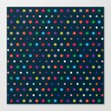 Color Polka Canvas Print