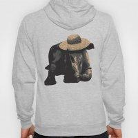Rhino in Sun Hat  Hoody
