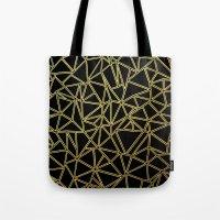 Abstract Blocks Gold Tote Bag