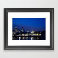 Tower of London at night Framed Art Print