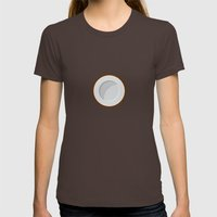 Coconut Print Womens Fitted Tee Brown SMALL