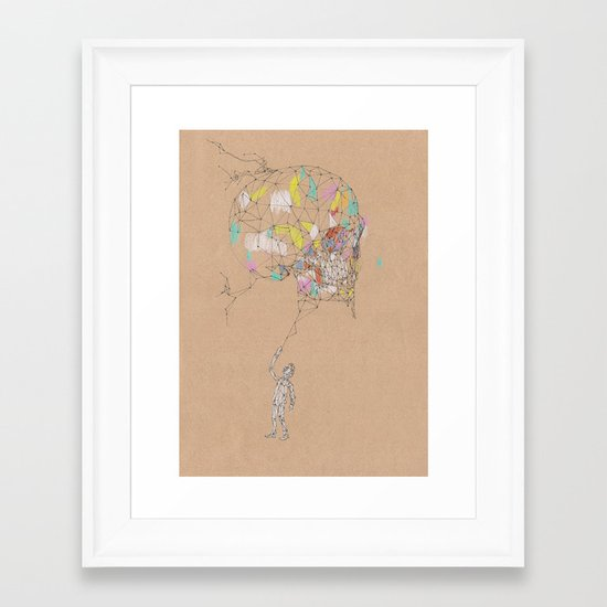 Wired Skull Framed Art Print