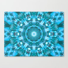 Blue mandala of the stones Canvas Print